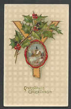 PPC A113* VINTAGE XMAS GREETING CELLULOID UNPOSTED