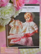 Vintage Knitting Pattern Baby Dolls Pram Set & Blanket For 18-20in Dolls ONLY99p