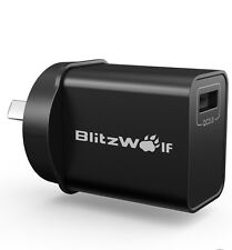 Australian stock plug Blitzwolf Qualcomm certified quick qc 3.0 wall charger
