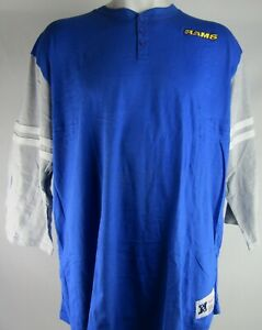 Los Angeles Rams NFL Mitchell and Ness Men's 3/4 Sleeve Shirt