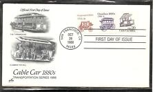 US SC # 2263 Transportation issue/ Cable Car FDC. Artcraft Cachet