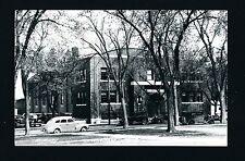 Windom Minnesota MN c1940s RPPC Old Brick 2 Story Armory Building 1930/40s Cars