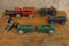 Vintage Primitive Wooden Toy Train Set