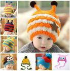 Toddler Kids Baby Boy Girl Fur Pom Hat Winter Warm Knit Cap Hat