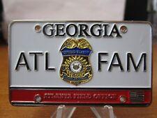Federal Air Marshal Atlanta Super Bowl LIII License Plate FAM Challenge Coin