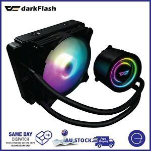 DarkFlash ARGB CPU AIO Liquid Cooler 120mm Water Cooling Support Intel LGA AMD