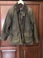 Authentic Mens Barbour Bedale Green Wax Jacket 38 S Sm Small C38/97
