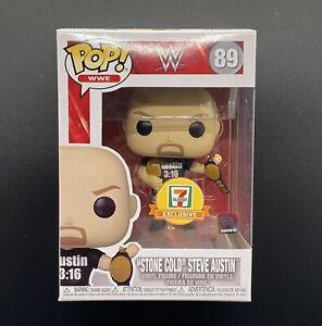 FUNKO POP! WWE STONE COLD STEVE AUSTIN 2 BELTS 7-11 EXCLUSIVE STICKER NIB!