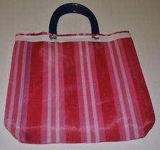 Mexican Market Mercado Multi-Color Mesh Reusable Small Tote Purse Lunch Bag NEW