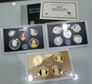 2012 US Mint Silver Proof Set With OGP & COA