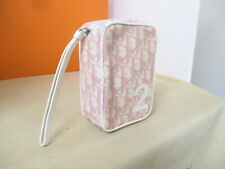 Dior Trotter Square Pouch Pink White No.2 Mini Bag Used Vintage 16x11.5x5.5cm