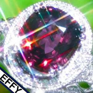 Spinel Ring EFFY 5.14ct 14K GOLD Diamond Estate Classic Vintage Cocktail Ring  ↩