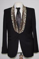 Men's Harry Brown Black Blazer with Patterned Collar (40R)... sample 1253
