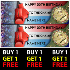 Buy 1 Get 1 Free Personalised Boxing Birthday Banners 100gsm Kids Party