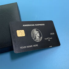 2020 Newest  Amex Express Black Card Black Metal Finish American Centurion Card