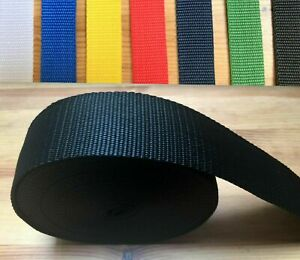 Webbing Rolls Polypropylene Choice of Colour Strong Straps and Lashing Webbing