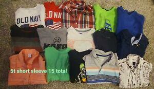 Boys 5t Short Sleeve Shirt Lot: Hurley, Quicksilver, Old Navy, DC Etc.