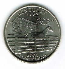 2001-D  Brilliant Uncirculated Kentucky 15TH State Quarter Coin!