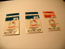 San Diego Clippers 1980 Lot of 3 NBA Ticket Stubs 3/15/80 & 11/15/80 Old Logo