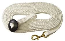 "25ft  Lunge Rein  1"" Braided Cotton Grove ~With A Solid Brass Snap"