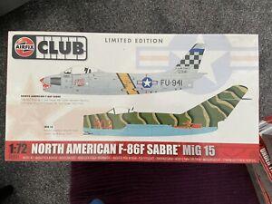 AIRFIX MODEL KIT SANRE & MIG 15 LIMITED EDITION SCALE 1/72