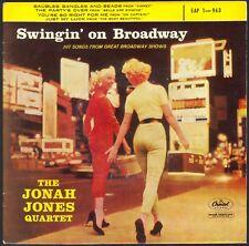 THE JONAH JONES QUARTET SWINGIN' ON BROADWAY RARE 45T EP JAZZ CAPITOL EAP 1.963