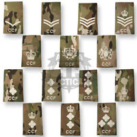 MULTICAM MTP OFFICIAL RANK SLIDE WHITE IVORY CCF CADET ARMY PATCH