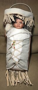 Native American Porcelain Doll with Papoose