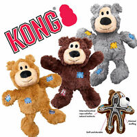 Kong Wild Knots Bear Heavy Duty Plush Dog Toy Knotted Rope Skeleton (4 sizes)