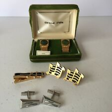 Lot of Vintage Men's 3 Sets of Cufflinks & 1 Tie Clip
