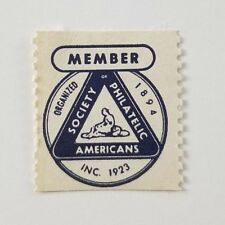 Poster Stamp Cinderella Society Of Philatelic Americans Member