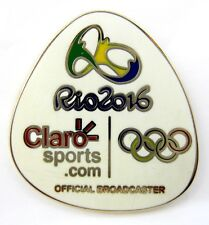 2016 RIO BRAZIL OLYMPICS  CLARO SPORTS OFFICIAL BROADCASTER  MEDIA PIN BADGE