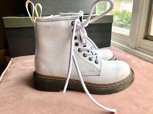 Girls Dr. Martens Delaney PBL boots size 12 white