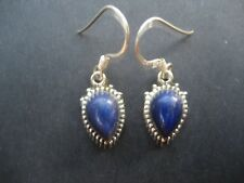 Handmade Solid 925 Sterling Silver & Lapis Lazuli Crystal Earrings 925206