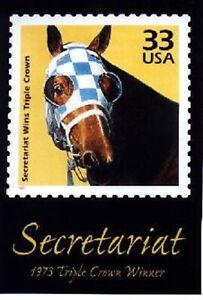 SECRETARIAT - .33 Postage Stamp poster in UNUSED, MINT Condition