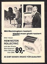 3w2311/ Alte Reklame von 1960 - Mit REMINGTON rasiert bleibt man glatt rasiert.
