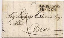 P7300   Prefilatelica, Cuneo, Savigliano, lineare + data 1838