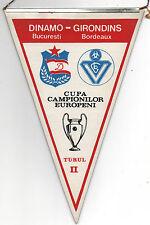 Orig.Wimpel   EC 1  84/85   DINAMO BUKAREST - GIRONDINS BORDEAUX  1/8 FINALE  !!