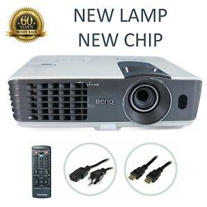 Benq MX711 DLP Projector, NEW Lamp - NEW Chip, 3200 ANSI HDMI 1080p
