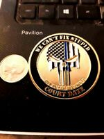 RARE LAW ENFORCEMENT PUNISHER WE CAN'T FIX STUPID TBL SHEEP DOG CHALLENGE COIN