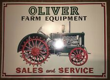 Oliver Farm Equipment Sales and Service Reproduction Metal Tin Sign