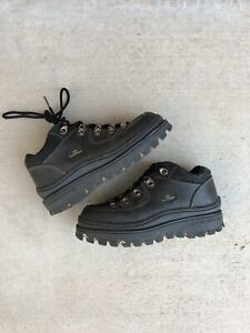 VTG Skechers Jammers Platform Chunky Tough Shoes Size 7 Ankle Black Boots 90s
