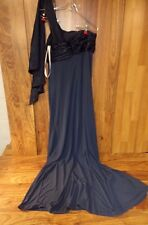 DAVIDS BRIDAL Dress Formal Long Gown Prom Party Blue Poly Spandex Womens Size 8