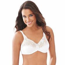 f872af308bdca Hanes Lilyette by Bali Tailored Minimizer Bra With Lace Trim 38 White 38ddd
