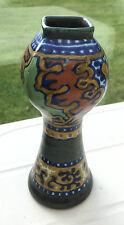 Antique Rhodian Gouda Rare Shape Vase 1924 Holland Signed