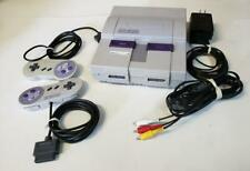 Super Nintendo SNES System Console, 2 Controllers, Cables
