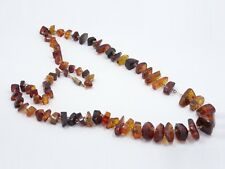"""ANTIQUE GENUINE GRADUATED BALTIC AMBER NUGGET NECKLACE ~ 24"""" / 25.6 g"""