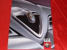 ALFA ROMEO 166 2.0 T.Spark 16V 2.5 V6 24V 3.0 V6 24V 2.4 JTD Prospekt von 1999