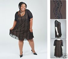 NEW!  Zaftique FLIRTY SWING DRESS Cocktail BLACK 0Z 3Z 4Z / 14 24 28 / L 3X 4X