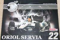 2012 Oriol Servia signed Dreyer & Reinbold Chevy DW12 Dallara Indy Car postcard